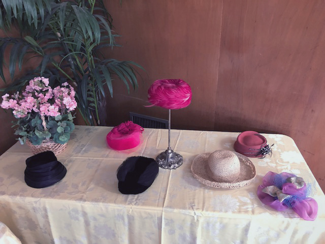table with hats